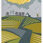 Retro Vlaanderen cycling poster by SFDesignstudio