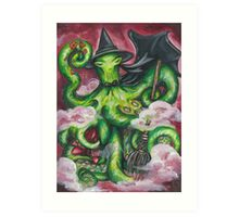 Wizard of Oz Wicked Witch Octopus Art Print