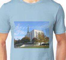 The London Temple in Autumn Unisex T-Shirt