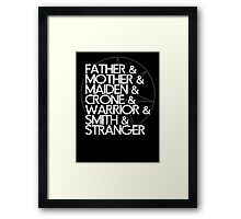 May the Seven Watch Over You Framed Print