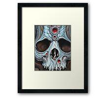 blue jeweled skull Framed Print