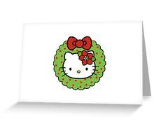 Hello Kitty Christmas Wreath Greeting Card