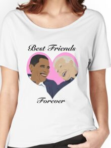 Joe and Barack Besties for Life Women's Relaxed Fit T-Shirt