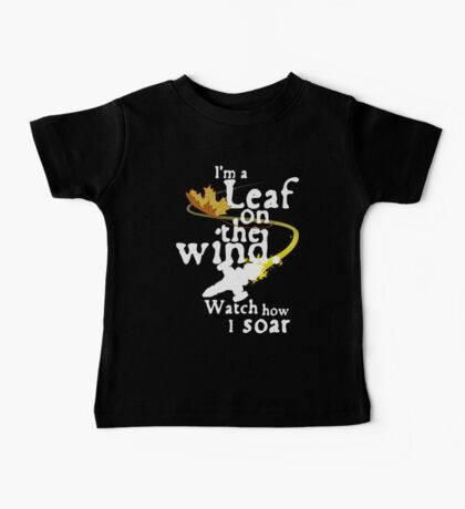 Leaf on the wind (white text) Baby Tee