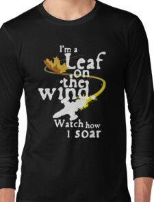 Leaf on the wind (white text) Long Sleeve T-Shirt