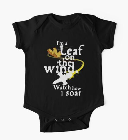 Leaf on the wind (white text) One Piece - Short Sleeve