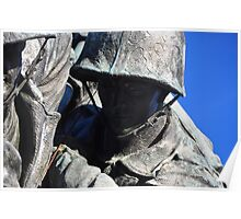 The United States Marine Corps War Memorial (Detail) Poster