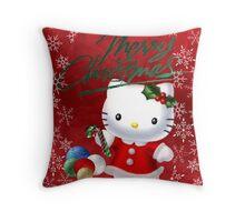 Traditional Hello Kitty Christmas Throw Pillow