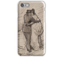 A Man and a Woman Seen from the Back Paris, March - May Vincent van Gogh  iPhone Case/Skin