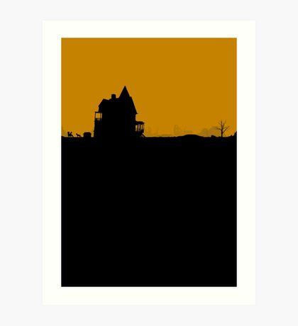 Minimal Silhouette Poster Design - Sanctuary Art Print