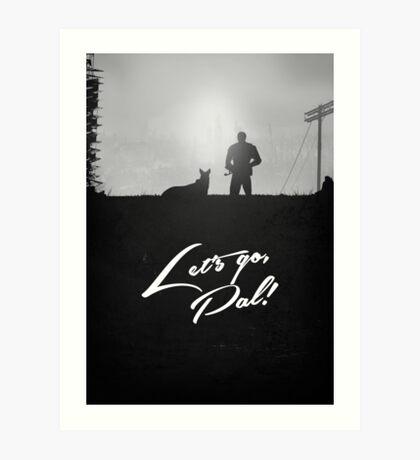 Minimal Silhouette Poster Design - 'Lets go Pal!' Art Print