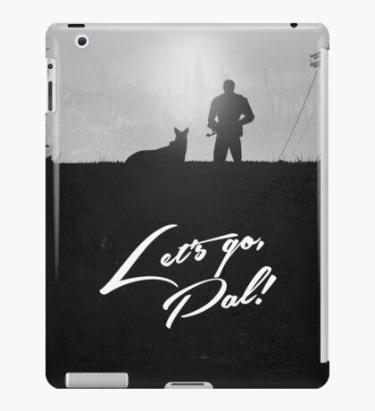 Minimal Silhouette Poster Design - 'Lets go Pal!' iPad Case/Skin