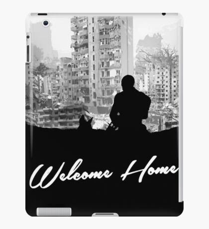 Minimal Silhouette Poster Design - 'Welcome Home' iPad Case/Skin