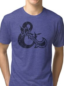 Dungeons&Dragons black ampersend Tri-blend T-Shirt