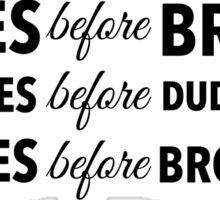 Leslie Knope 'Bros Before Hoes'  Sticker