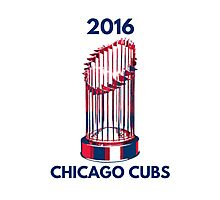 Chicago Cubs World Series Trophy 2016 Photographic Print