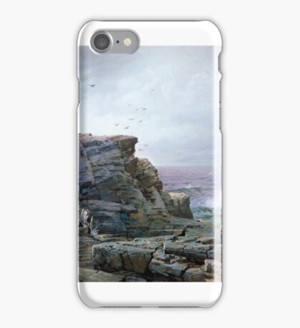 A Rocky Coast , William Trost Richards iPhone Case/Skin