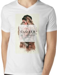 THE CHAINSMOKERS CLOSER WAY Mens V-Neck T-Shirt