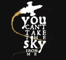 You can't take the sky from me - white text variant Baby Tee