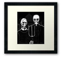 Skeleton Gothic Framed Print