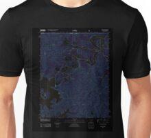 USGS TOPO Map Arkansas AR Beaver 20120105 TM Inverted Unisex T-Shirt