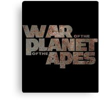 war of the planet of the apes Canvas Print