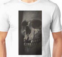 grey realistic skull Unisex T-Shirt