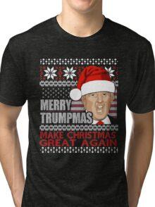 Merry Trumpmas Make Christmas Great Again Tri-blend T-Shirt