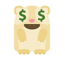 Emoji Guinea Pig Money Face Photographic Print