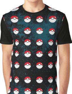 Pokeball Pattern Graphic T-Shirt