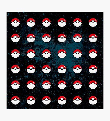 Pokeball Pattern Photographic Print
