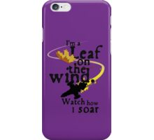 Leaf on the wind iPhone Case/Skin