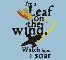 Leaf on the wind Kids Tee