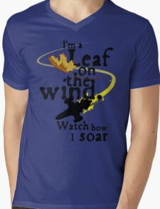 Leaf on the wind Mens V-Neck T-Shirt