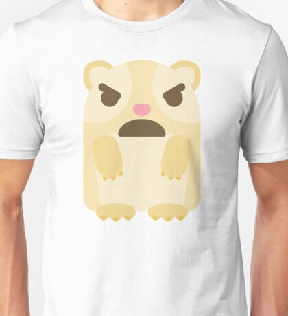 Emoji Guinea Pig with Angry and Mean Face Unisex T-Shirt