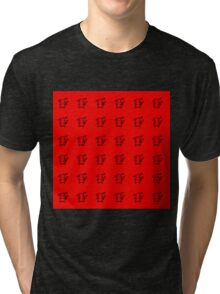 Pikachu Red Pattern Tri-blend T-Shirt