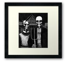 Skeleton (Even More) Gothic Framed Print