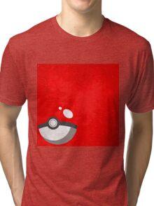 Red Pokeball Grunge  Tri-blend T-Shirt