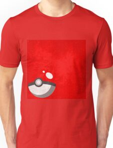 Red Pokeball Grunge  Unisex T-Shirt