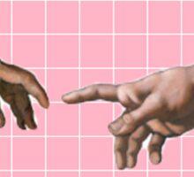 Reaching Hands Sticker