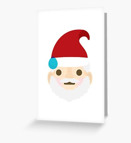 Emoji Christmas Santa Big Sweat Greeting Card