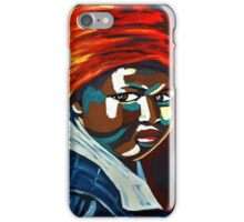 African Traditional Tribal Women Abstract Art Canvas Painting for Women, Girls, Ladies, Kids 9 iPhone Case/Skin