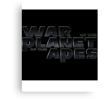 war of the planet of the apes 2 Canvas Print