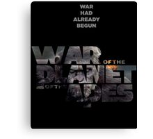 war of the planet of the apes 3 Canvas Print