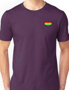 Gay pride rainbow heart  Unisex T-Shirt