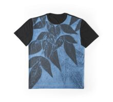 Leaves on Blue Graphic T-Shirt
