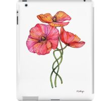 Peach & Pink Poppy Tangle iPad Case/Skin