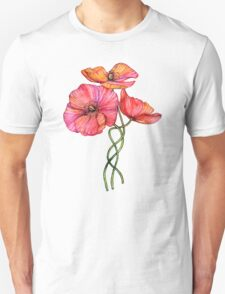 Peach & Pink Poppy Tangle Unisex T-Shirt