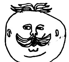 Funny Illustration Moustache Man by mosqitobite