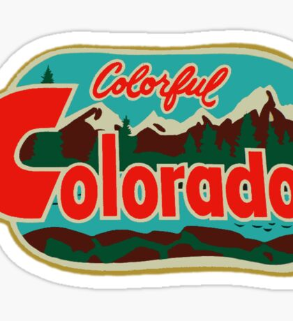 Colorful Colorado Vintage Travel Decal Sticker